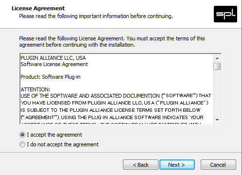 Plugin Install Agreement