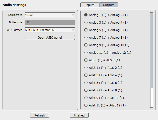 BFD Audio Setting