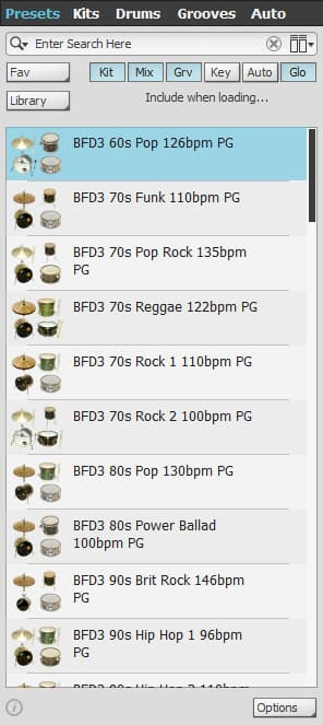 BFD3 Presets