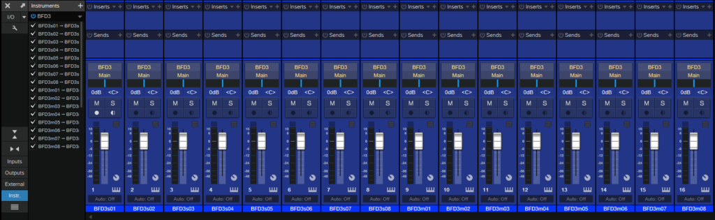 BFD on DAW Expand