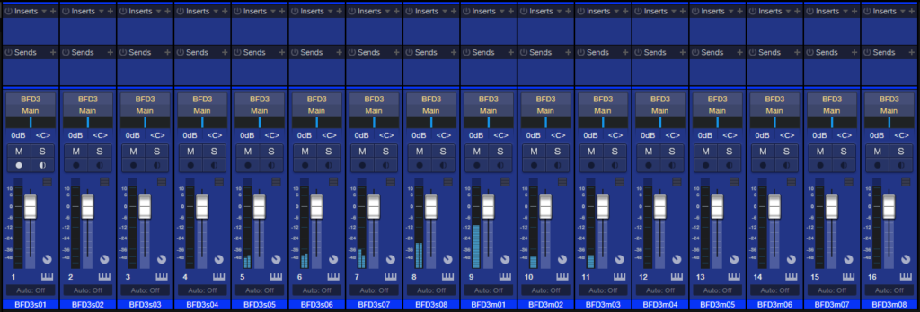BFD3 to DAW mixer Complete