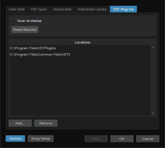 VST plugins Scan
